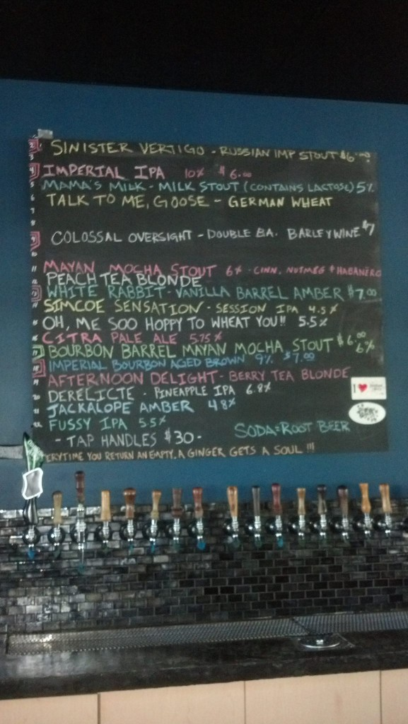 odd side ales tap list