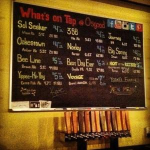 Osgood Brewing tap list