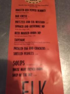 Elk Brewing Appetizer menu (1)