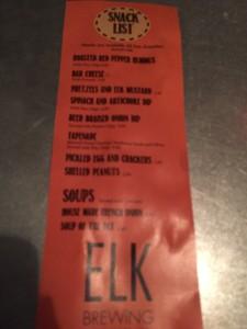 Elk Brewing Appetizer menu (2)