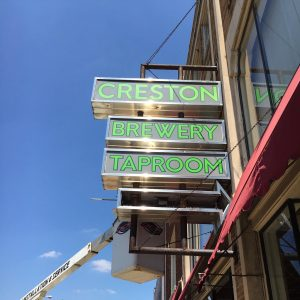 Creston Brewery Sign